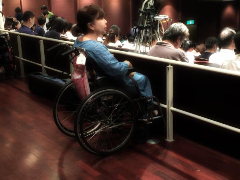 車椅子用の観覧エリア